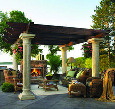 If you are thinking about extending your home's interior beyond the obvious four walls, a pergola is a great way to add style and panache. The pergola has Pergola On The Roof, Building A Pergola, Small Pergola, Modern Pergola, Pergola Canopy, Pergola Plans, Pergola Ideas, Black Pergola, Pergola Patio