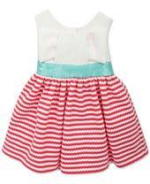Rare Editions Baby Girls' Red & White Stripe Dress