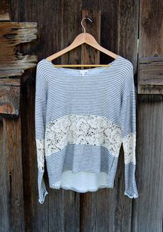 Lace and Knit Top – http://stitchbee.com/collections/new-arrivals/products/lace-and-knit-top