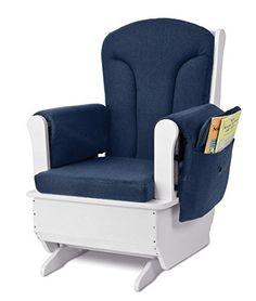 Jonti-Craft 8150JC Glider Rocker with Blue Cushions