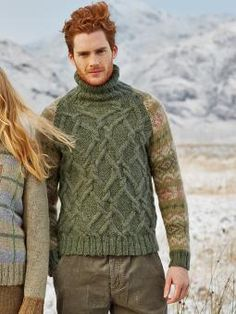 Craggie - Knit this womens intarsia sweater from Rowan Knitting and Crochet Magazine 56, a design by Brandon Mably using the ever popular Felted Tweed Aran (Wool and Alpaca). With Set-in sleeves, rolled collar and stunning tartan pattern, this knitting pattern is for the experienced knitter.