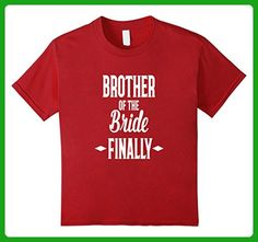 Kids Brother of the Bride FINALLY Fun T- Shirt Wedding 10 Cranberry - Wedding shirts (*Amazon Partner-Link)