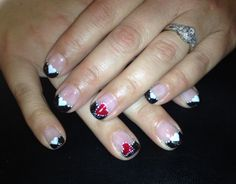 Heart French nail art