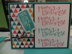 You're How Old? by onestampergirl - Cards and Paper Crafts at Splitcoaststampers