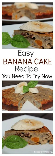 Banana cakes are awesome at the best of times, but this healthy banana cake is even better. The whole family will love this recipe, which is easy to make and tastes delicious. Healthy Banana Cakes, Moist Banana Bread, Healthy Cake, Banana Bread Recipes, Healthy Food, Delicious Cake Recipes, Yummy Cakes, Healthy Recipes, Dessert Recipes