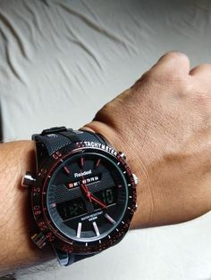c88c5941f5de Julius Army LED Shock Resistant Military Quartz Watch