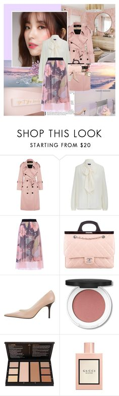 """Dreamy Aesthetic"" by rainie-minnie ❤ liked on Polyvore featuring Burberry, WithChic, Chanel, Christian Lacroix and Gucci"