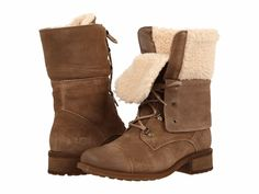 Ugg Australia Women's Gradin Fold-Down Convert Military Combat Boots NEW Ugg Shoes, Sock Shoes, Shoe Boots, Women's Boots, Laced Boots, Footwear Shoes, Uggs, Water Resistant Shoes, Winter Wardrobe Essentials