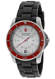 Swiss Army Women's Maverick GS Silver Dial Black Rubber List: $450.00  Reg. $257.99 NOW $199.00 (56%)