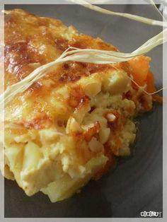 Super gratin automnal à base de courge butternut et de patates douces !: