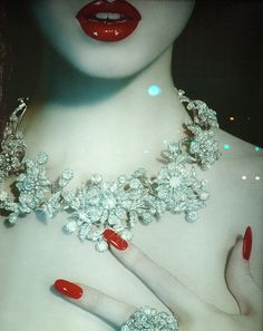 red...diamonds are a girl's best friend!