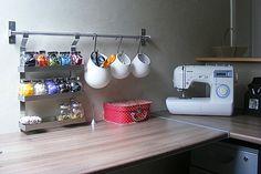 idee de rangement espace couture IKEA