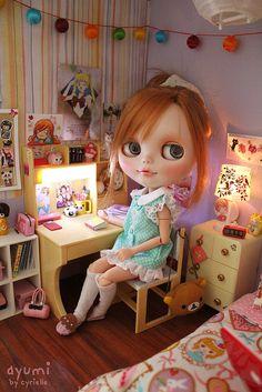 Ayumi Custom Blythe Doll by Cyrielle  #doll #blythe #miniature