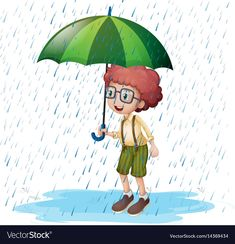 Little boy standing in rain Royalty Free Vector Image , Free Vector Images, Vector Free, Rain Illustration, Writing Topics, Alphabet Letters, Yui, English Lessons, English Vocabulary, Free Stock Photos