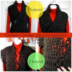 Como hacer 2 Chalecos Crochet Principiantes - Patrones Crochet crochet vest, bolero or jacket tutorial