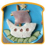 Love this Pirate Ship Sandwich idea from Funky Lunch!