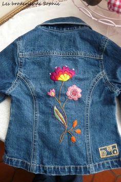 nice embroidery on jeans jacket