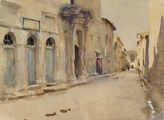 A Street in Spain John Singer Sargent Watercolour over graphite with touches of bodycolour