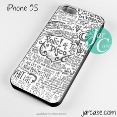 panic at the disco quote Phone case for iPhone 4/4s/5/5c/5s/6/6 plus (I have it its awesome)
