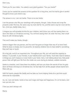 Letter explaining Santa
