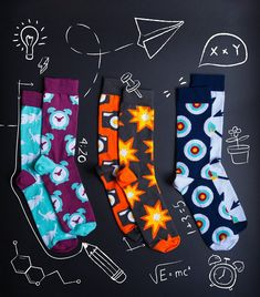 Mens Womens Casual Feather Socks Crazy Custom Socks Creative Personality Crew Socks