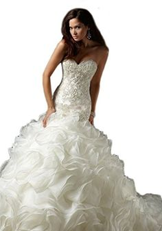 KingBridal Strapless Crystal 2015 Mermaid Wedding Dress For Bride On Sale