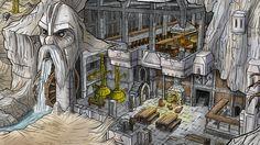 Dwarven Interiors Granola granola y sus beneficios Fantasy Places, Fantasy Map, High Fantasy, Fantasy World, Dnd Dwarf, Dwarven City, Fantasy Dwarf, Rpg Map, Medieval