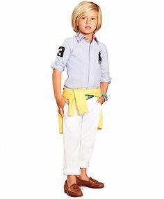 Ralph Lauren Little Boys' Big Pony Shirt and Chino Pants