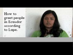 46 best conversarpresentarse images on pinterest spanish class how to greet people in ecuador according to lupe youtube other video clips m4hsunfo