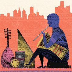 """""""Recent illustration for the Michigan Philharmonic and the National Arab Orchestra."""" by c_everhart"""