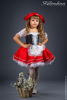 Купить или заказать Костюм Красной шапочки в интернет-магазине на Ярмарке Мастеров. карнавальный костюм Красной шапочки для девочки комплектация: платье, шапо…
