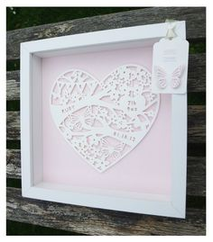 Bespoke Paper Cut baby Frame