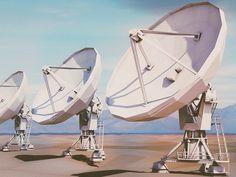 Dribbble - Very Large Array Radio Telescope by Michiel van den Berg