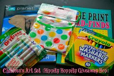 B is 4: Children's Art Set {Hippity Hoppity Giveaway Hop}