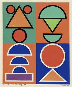 """Auguste Herbin, Composition sur les lettres """"F.T.P.F"""", 1945"""