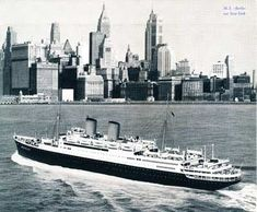 MS Berlin In NY Harbor. German Ocean Liner. I sailed on her from New York to Bremerhaven, Germany in the late 1950's. She was launched in 1926 as the 'Gripsholm' owned by Swedish Lines and sold to Lloyd Lines of Germany in the 1950's. It was scrapped in the early 1960's