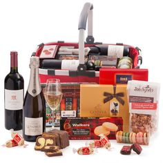 Send only the best gourmet gift baskets to Switzerland when you want to make an impression. The Royal Carry Bag gourmet hamper is filled with French Champagne, red wine from Argentina, and the finest European luxuries including Godiva chocolates. This spectacular international gift basket is the ultimate corporate gift for any occasion.