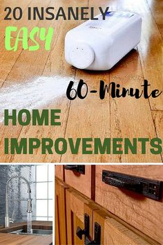 You can make a big impact in just 1 hour with one of these quick and easy home improvement projects.