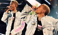 Jaden Smith performs Icon during NBA's All-Star Weekend
