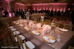 Lovely tables at indian wedding reception http://www.maharaniweddings.com/gallery/photo/91839