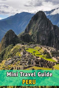 Mini travel guide to Peru. Useful tips and information to prepare your travel to Peru. When to go, where to stay and eat, visa, medical information, and much more.: