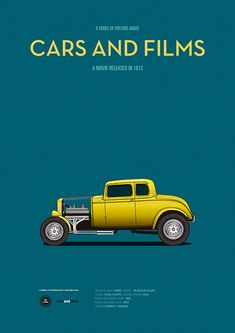 Poster of the car of American Graffiti. Illustration Jesús Prudencio. Cars And Films