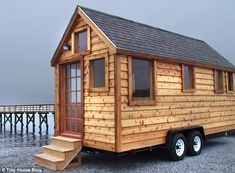 Inspired: Julie Martin started building cabins like this one after losing her home in Hurricane Katrina