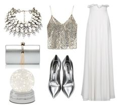 """""""White outfit for Brazilian New Year's eve!"""" by menestho-official on Polyvore featuring Alice + Olivia and Casadei"""