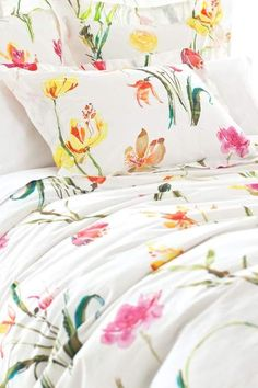 #DashAndAlbert Watercolor Flowers Duvet Cover