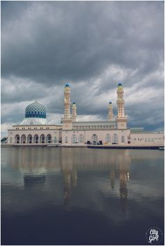 Borneo Malaysia Travel Guide by CityGirlSearching - FLoating Blue Mosque in Kota Kinabalu