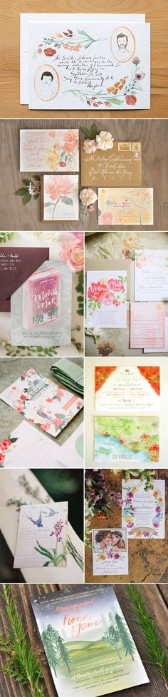 23 Most Beautiful Watercolor Invitations - Illustration