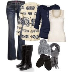 Warm and cozy winter outfit.