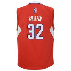 Boys 8-20 Adidas Los Angeles Clippers Blake Griffin NBA Replica Jersey, Size: Xl(18/20), Red