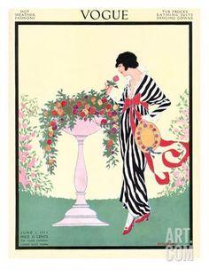Vogue Cover - June 1913 Regular Giclee Print by Helen Dryden at Art.com
